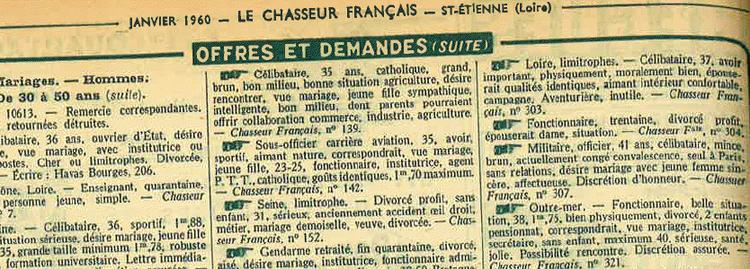 site de rencontres du chasseur français