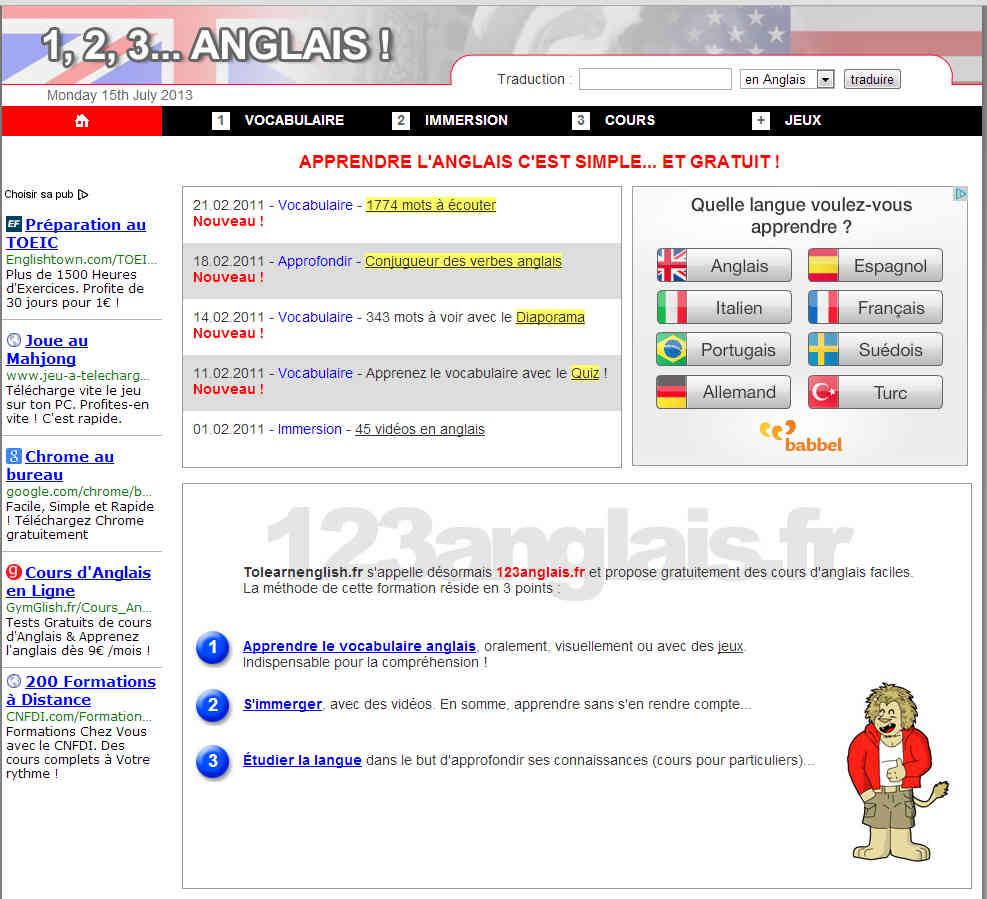 site rencontre traduire