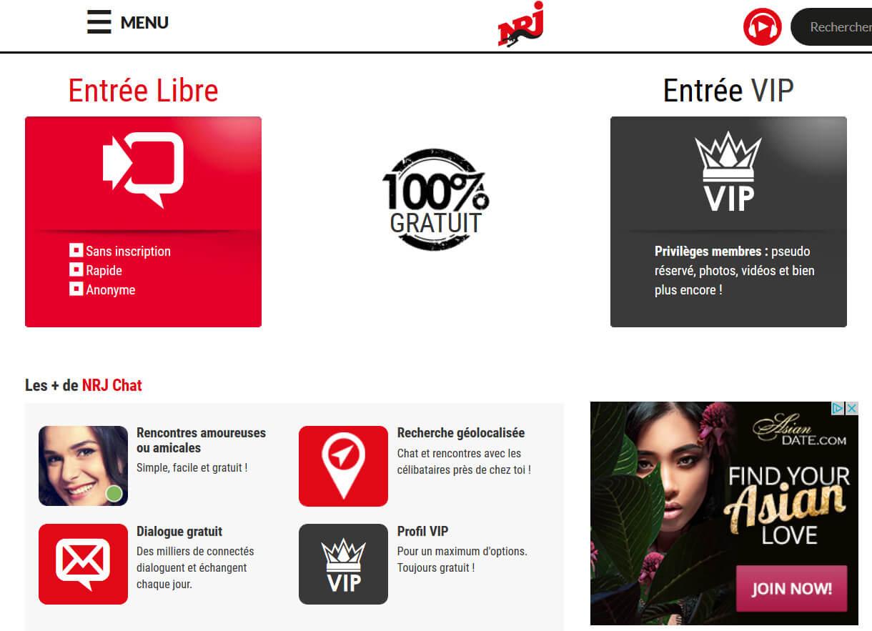 Chat NRJ, Le tchat de la célèbre radio NRJ