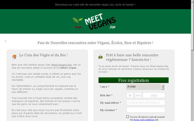 site de rencontres végétarien